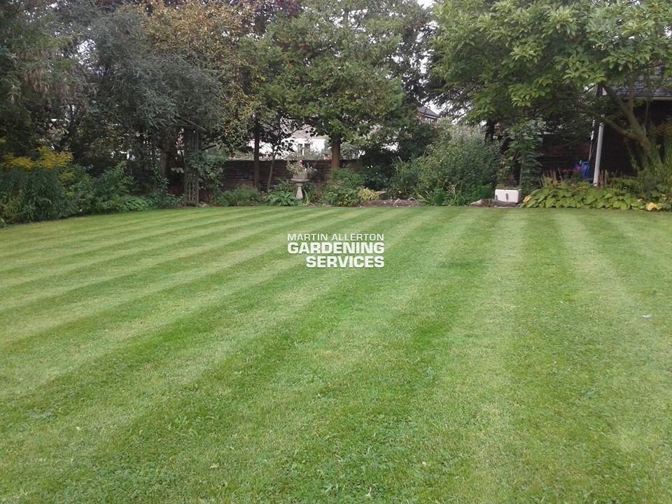 Stone lawn striping