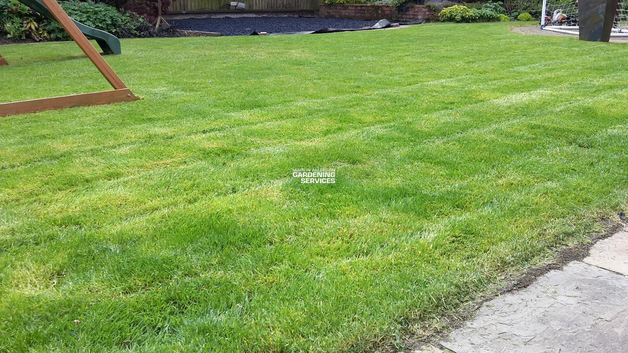 Hilderstone lawn mowing - after